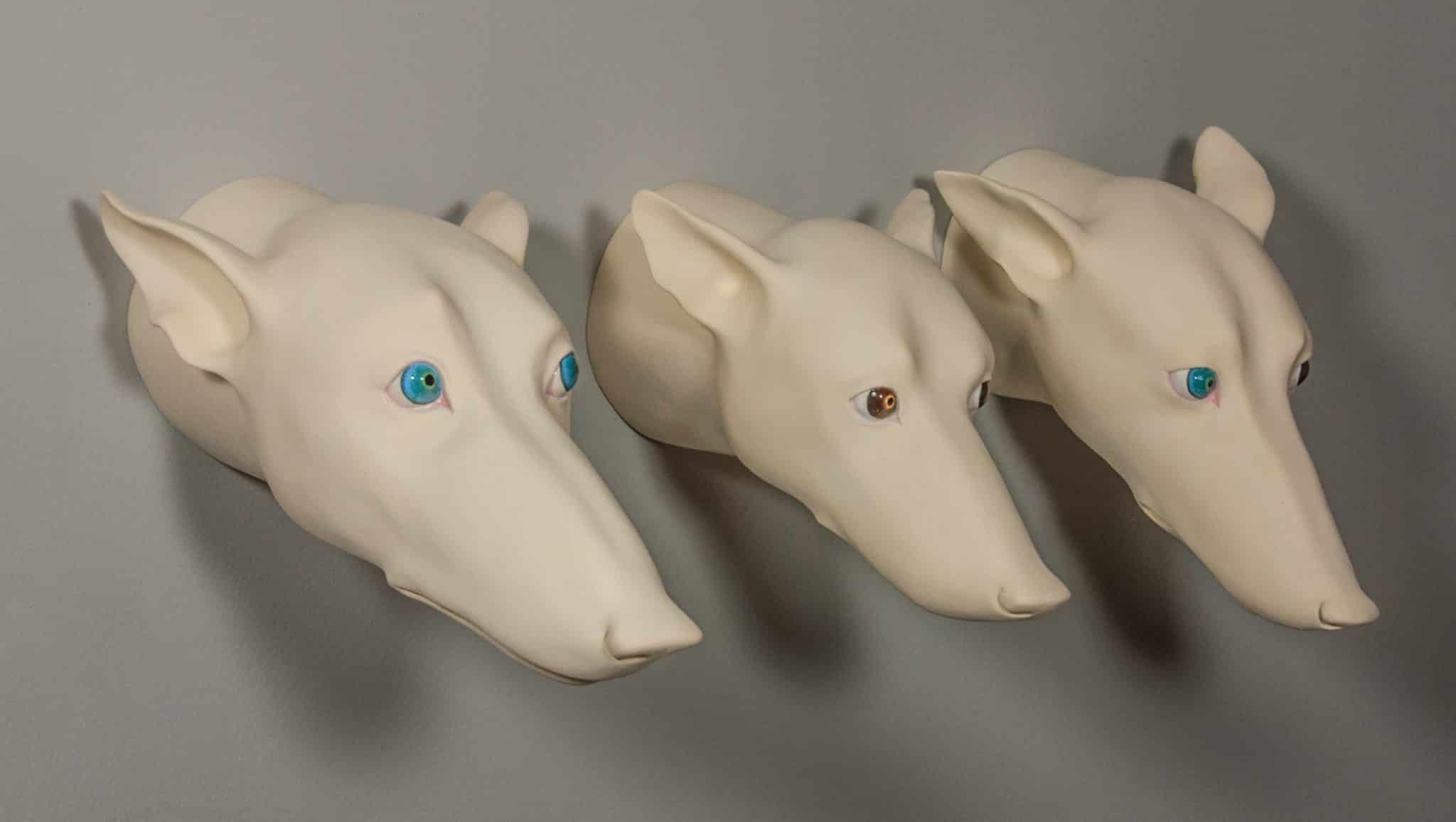 Marina Kuchinski – Solid Clay Construction of a Dog Head